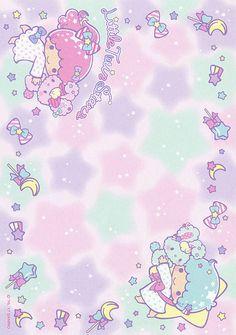 Sanrio Little Twin Stars Memo w/ Stickers Sanrio Wallpaper, Hello Kitty Wallpaper, Kawaii Wallpaper, Cute Backgrounds, Cute Wallpapers, Memo Notepad, Printable Scrapbook Paper, Sad Art, Letter Set