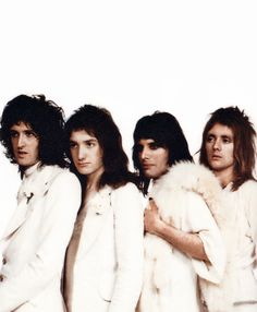 Queen, Brian May, John Deacon, Freddie Mercury, and Roger Taylor. I love these guys!!