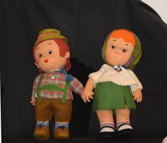 Vintage Doll Fat Lenci Doll's Pair W/ Lenci Tag