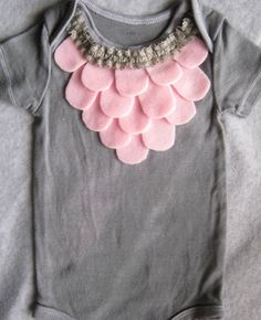 Pink and Grey Girl Onesie with Ruffles  Size NB by shopantsypants, $18.00