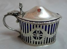 Georgian Style Silver Mustard Pot 1904 in Antiques, Silver, Solid Silver | eBay