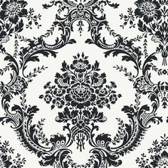 allen + roth Damask Wallpaper for the ceiling?