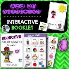 #speechtherapy #grammar Add an adjective interactive booklet 2 sets of adjectives to use.