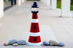 How to Make a Clay Pot Lighthouse free tutorial