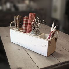 Hey, I found this really awesome Etsy listing at https://www.etsy.com/listing/165532309/primitive-wooden-caddy-rustic-utensil