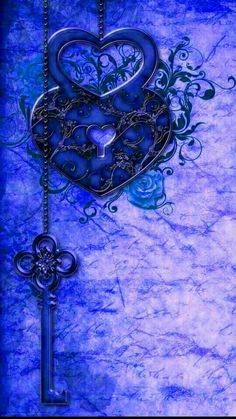 💙Blue 💜Purple Here is a key to unlock the hidden you, find the color of beauty God has placed around us for he knows your soul can unlock and bring forth love, kindness, and understanding. By Artist Unknown. Best Iphone Wallpapers, Blue Wallpapers, Wallpaper Backgrounds, Heart Wallpaper, Cool Wallpaper, Blue Shades Colors, Everything Is Blue, Blue Bayou, Blue Aesthetic