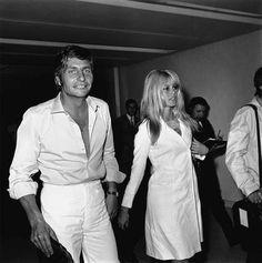 Brigitte Bardot and Gunter Sachs on their wedding day in Las Vegas,1966-07-14