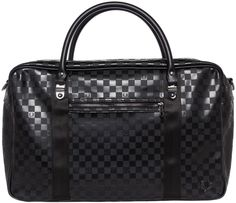 FRED PERRY OVERNIGHT BAG BLACK CHECKERBOARD This high class bag is perfect for a weekend away. It will fit in any overhead compartment as your carry on and will give you the best style of anyone on the plane! It has several compartments for for easy to access items. $126.00 #fredperry #overnightbag #checkered #checkerboard