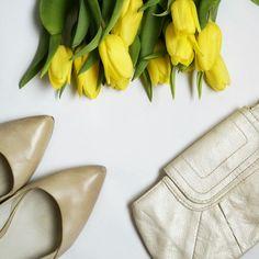 Spring.#spring #yellowtulips #flower #white #whitefeed #flatlays #photo #whitetheme #fashion #style #instagood #pretty #shoes #nude #follow #instablogger #spring #nofilter