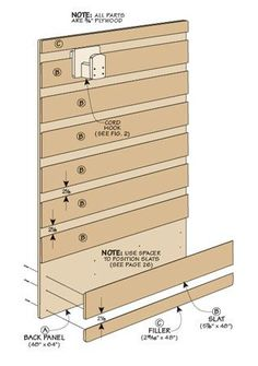 Use wide shiplap to make Slat-Wall - move decor shelves seasonally | Woodsmith Plans