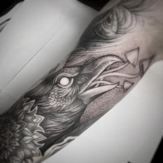 Search inspiration for a Blackwork tattoo. Alex Tabuns, Love Tattoos, Bird Tattoos, Raven Tattoo, Black Art, Scandinavian, Ink, Photo And Video, Artist