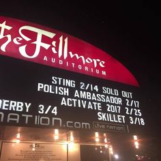 Never dreamed I'd be on a billboard with Skillet....Oh yea Sting is on there too.  Tonight in Denver.