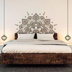 Mandala Art Vinyl Wall Stickers Yoga Boho Removeable Decal Headboard Bedroom Decoration home decor ideas
