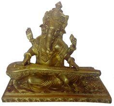 Sitar Ganesha #MetalHandicrafts #BrassHandicrafts #CraftShopsIndia