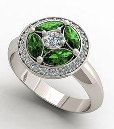 Esmeraldas y diamantes