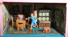 1/144 scale dollhouse miniature room detail by Sheila A. Nielson