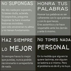 Great comparison of tu affirmative and negative commands in an authentic Spanish poster with life advice #flchat