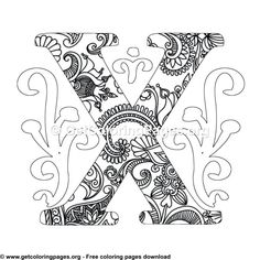 Flower Decorated Easter Egg Coloring Pages Letter B Coloring Pages, Easter Egg Coloring Pages, Unicorn Coloring Pages, Pattern Coloring Pages, Free Adult Coloring Pages, Mandala Coloring Pages, Free Printable Coloring Pages, Coloring Sheets, Zentangle Animal