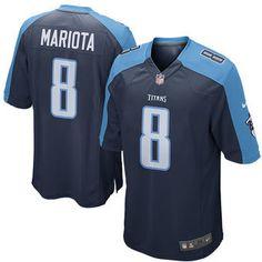 Men s Tennessee Titans Marcus Mariota Nike Alternate Navy Game Jersey dbc8c77ed