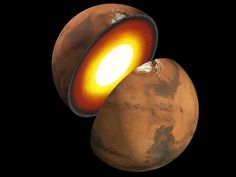 Mars Interior  Artist rendition of the formation of rocky bodies in the solar system - how they form and differentiate and evolve into terrestrial planets.     Image credit: NASA/JPL-Caltech