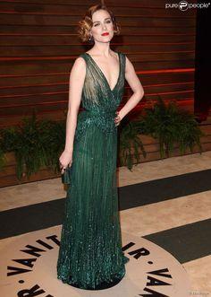 Evan Rachel Wood (habillée en Elie Saab) - soirée Vanity Fair après la 86e cérémonie des Oscars le 2 mars 2014