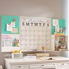 Desk space - I love the large calendar for a home office, great for organisation
