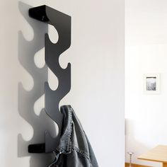 Wave Coat & Bag Rack Black, £38, now featured on Fab.