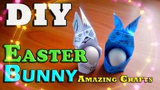 DIY Easy Easter. Want to learn how to make a paper basket in the shape of the Easter Bunny for eggs? Easy and detailed tutorial on creating Easter baskets a ...