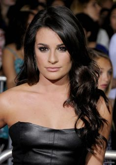 love lea michele's hair without the bangs