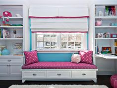 30 Inspirational Ideas for Cozy Window Seat - . 30 Inspirational Ideas for Cozy Window Seat - The Effective Pictures We Offer Teen Girl Bedrooms, Little Girl Rooms, Bedroom Storage, Bedroom Decor, Bedroom Ideas, Blue Bedroom, Playroom Storage, Seat Storage, Kids Storage