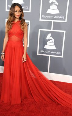 / Pin curated by Pretty Planner Weddings  & Events www.prettyplannerweddings.com / Rihanna and 11 other of the Grammys best red carpet dresses of all time.