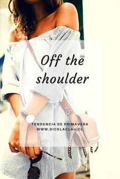 Las blusas y vestidos off the shoulders que se están llevando.