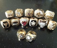 Phil Jackson's 13 NBA Title Rings (2 from the Knicks, 6 from the Bulls, and 5 from his time coaching the Lakers) (May 14, 2013)