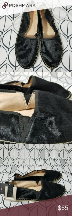 Zara Black Calf Hair Espadrilles Flats Rare NWT Zara Womans Espadrilles Flats in New with tags condition ready to gift someone or yourself! Size 40 which is 9 according to Zara size chart. Black Calf Hair in perfect shape will go with Everything! Label says Zara Girls but they use Womans sizing. Black flats Espadrilles shoes Christmas fun comfortable. Soles shoe no ware. Tags still attached. Gift fun pretty versatile wardrobe staple basics Zara Shoes Espadrilles