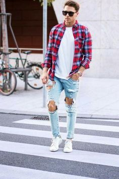 Casual street style looks for men #mens #fashion