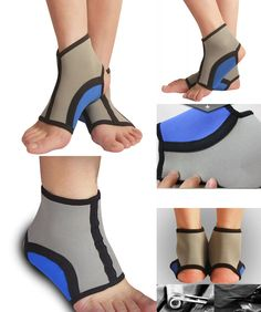 [Visit to Buy] 1 Pair Stretch Ankle Brace Anklets 2 Pcs Protector Sports Fitness Running Safety Anti Sprained Ankles Support B2Cshop #Advertisement
