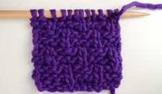 How to knit the basketweave stitch | We Are Knitters Blog