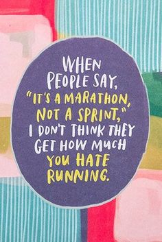 It's A Marathon - Empathy Card