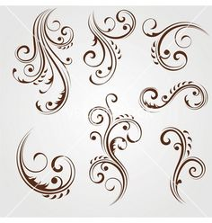 Floral design elements vector 890005 - by VectorLArt on VectorStock®
