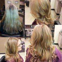 Check out this before and after, hair color by Marina Jacobs at Belk Salon & Spa orange park mall
