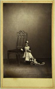 """Lucia Zarate (1864-1890), one of the tiniest people ever recorded. Born in San Carlos, Mexico. When she was 17 years old she weighed 4.7 pounds. At age 12, she came to the U.S. with her father to be exhibited, using the title """"the Mexican Lilliputian"""". At 20 inches tall, it was said that Tom Thumb was a giant next to her. She amassed a small fortune by being exhibited. Sadly she perished in 1890 when the circus train on which she was travelling became snowed in, in the Sierra Nevada…"""