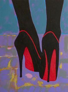 "Saatchi Art Artist: gordon sellen; Acrylic 2014 Painting ""Cruel Shoes"""
