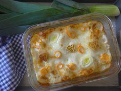 Czary w kuchni- prosto, smacznie, spektakularnie.: Beszamelowa ala' lasagne z pora i kurczaka Pudding, Kitchen, Desserts, Food, Lasagna, Tailgate Desserts, Cooking, Deserts, Custard Pudding