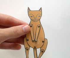 {kitty cat moveable paper doll}