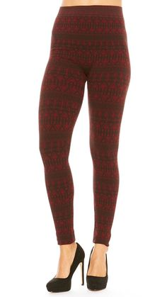Just One Seamless Warm Winter French Terry Leggings at Amazon Women's Clothing store: