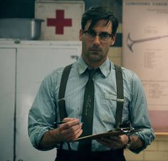 Guys You Want To See In Suspenders Jon Hamm. He even makes suspenders look sexy.excuse me while I pick my jaw up from the floor! He even makes suspenders look sexy.excuse me while I pick my jaw up from the floor! Jon Hamm, Popsugar, Bae, Don Draper, Sucker Punch, Strip, Mad Men, Beautiful Men, Beautiful People