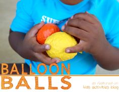 {Kids DIY} balloon balls - great for juggling. Thinking I would like to make these for those kids who need to keep their hands moving ~ maybe as a hand-held distractor and for learning how to juggle!