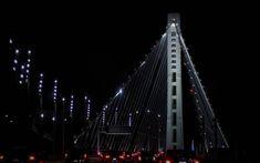 Bridge the gap! Bridge Engineering, Black Architecture, Night Photography, Skyscraper, Canon, Gap, San Francisco, California, Adventure