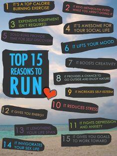 top fifteen reasos to run!