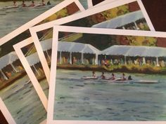 Greeting Card Box: Head of the Charles Regatta